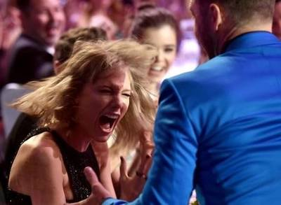 News video: Taylor Swift and Justin Timberlake Freak Out at IHeartRadio