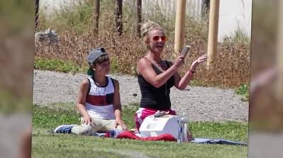News video: Britney Spears Transforms Into Soccer Mom at Son's Game